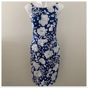 EUC Boden Blue and White Sleeveless Dress Size 6R